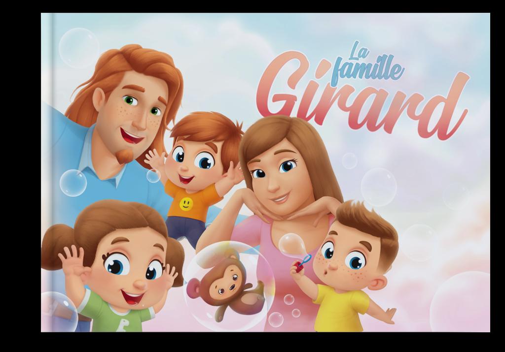 •Livre personnalisé pour jusqu'à 5 membres de la famille !