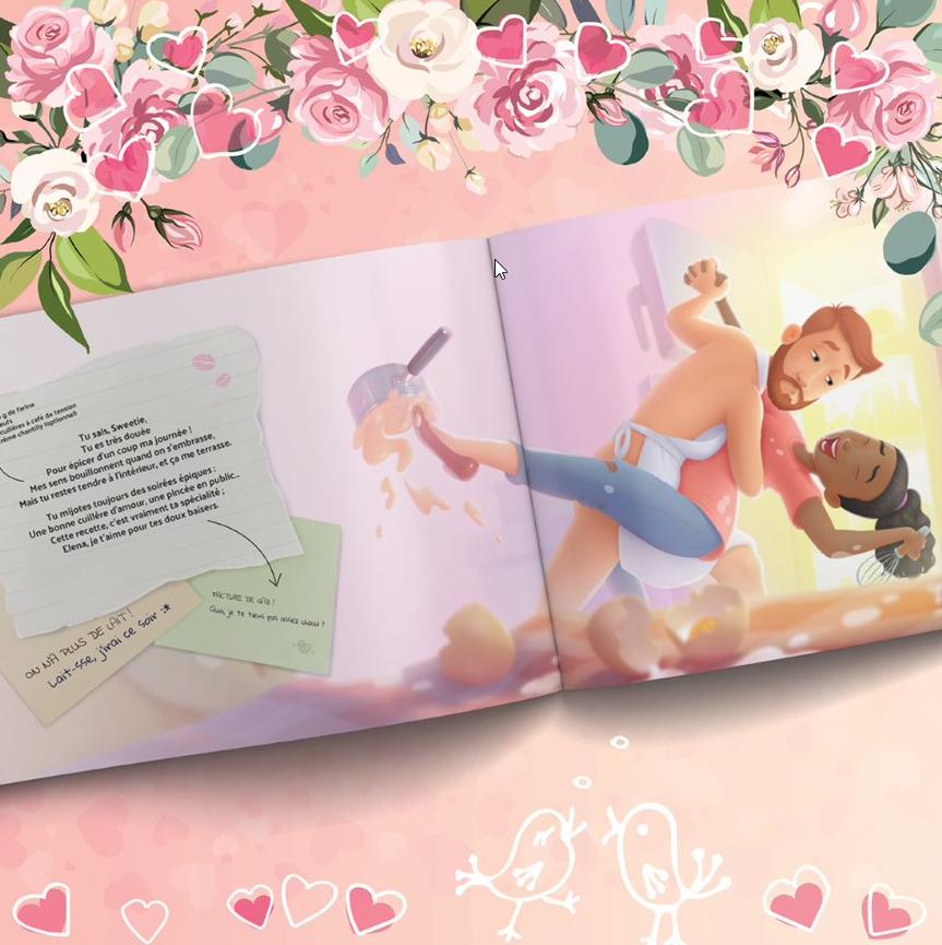 livre personnalisé pour les COUPLES